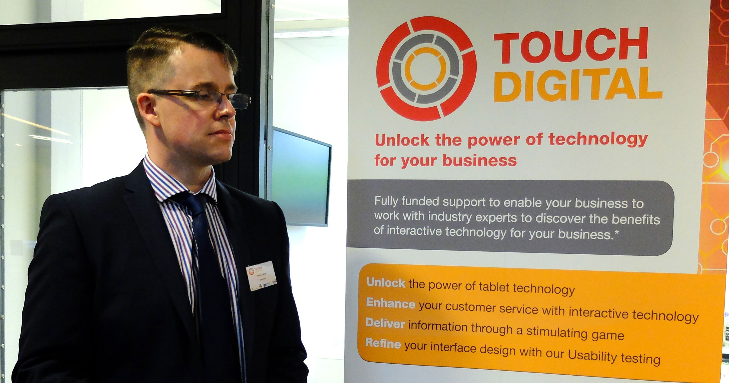 "Kamazoy breaks down IT barriers at Coventry University Enterprises' ""Touch Digital"" event"