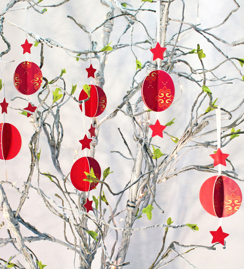 SORRY SOLD OUT - Paper Baubles - Festive Red (set of 3)