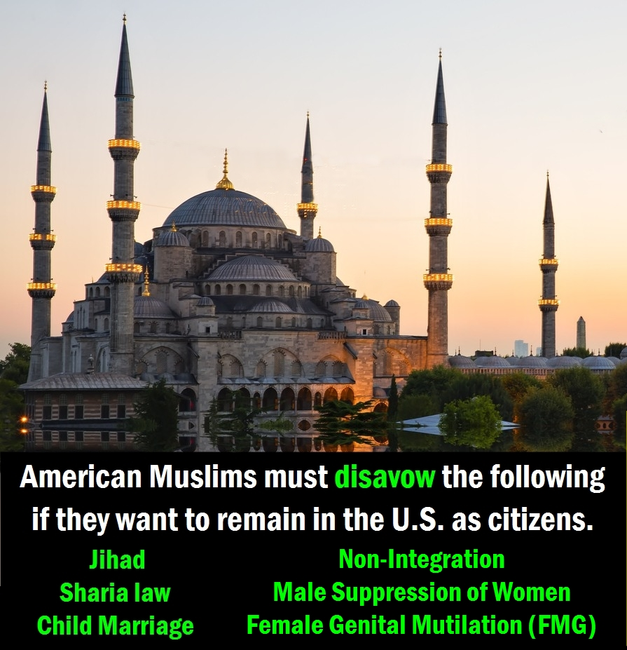 Muslims must disavow