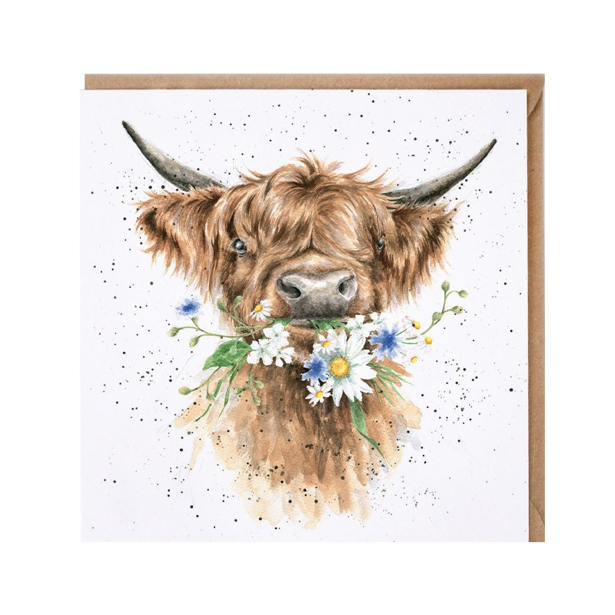 Wrendale 'Daisy Coo' Cow Greetings Card