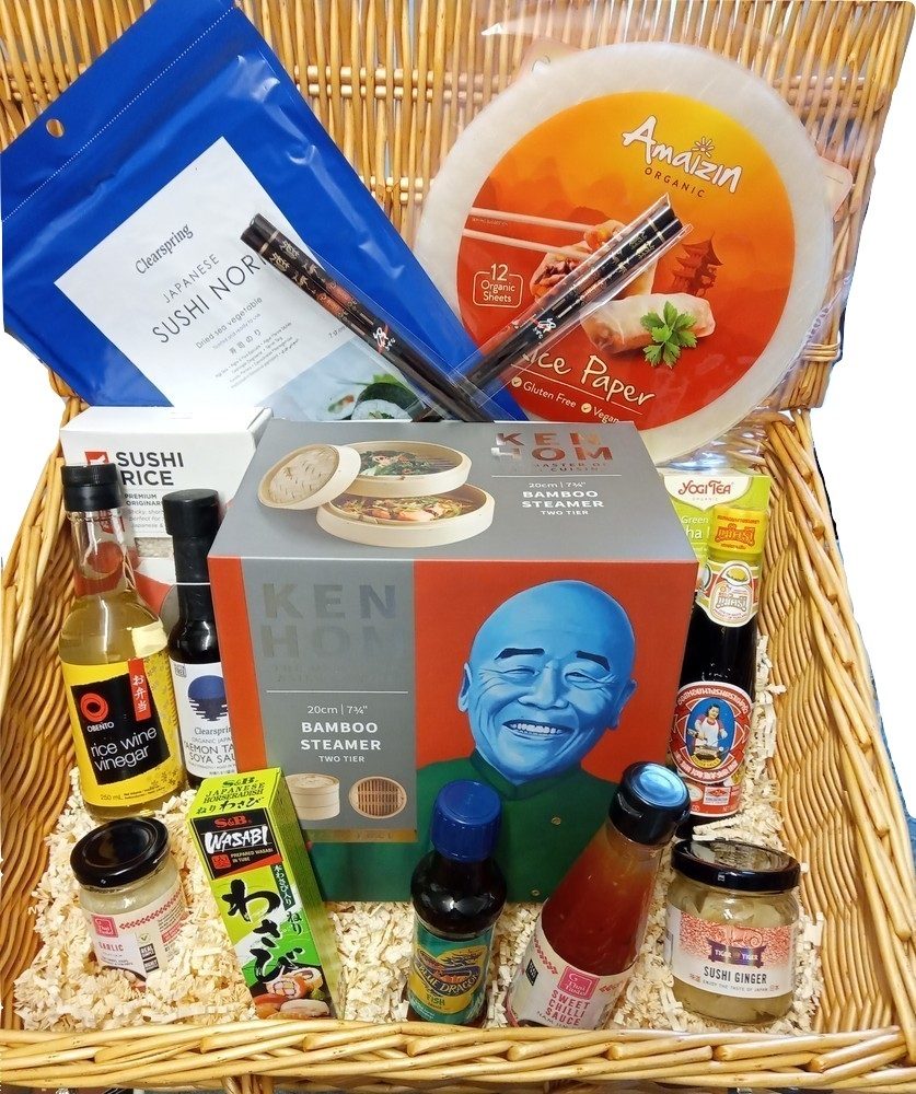 Oriental Cuisine Wicker Hamper
