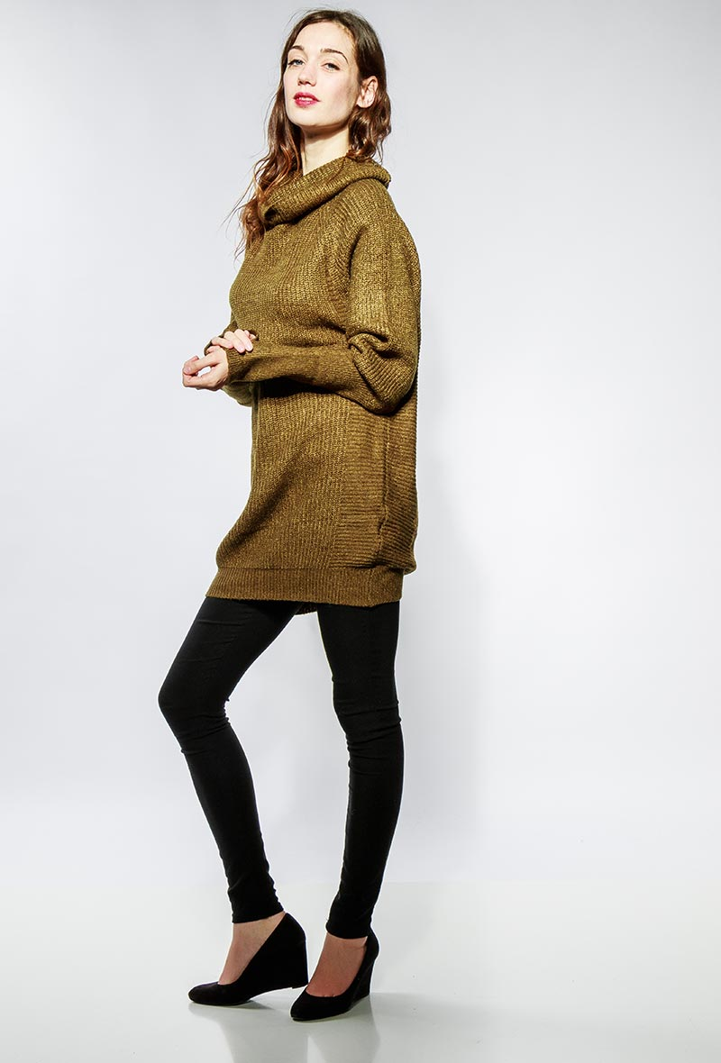 Long Khaki Sweater / Dress