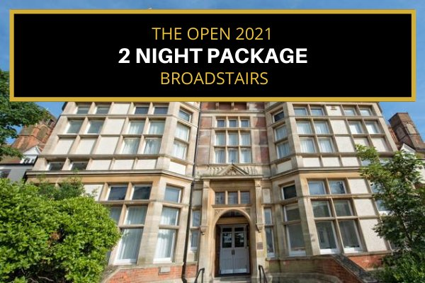 Attend the 2021 Open - Broadstairs (near Sandwich) - Thursday & Friday (2 night package)