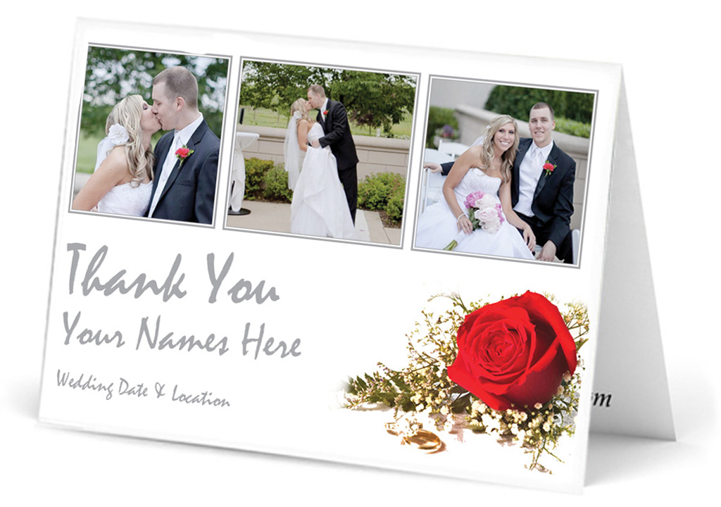 own bouquet floral thank you card