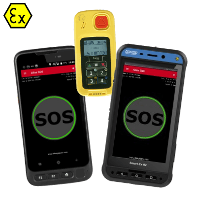 ATEX Intrinsically safe smartphone lone worker man down device gps indoor
