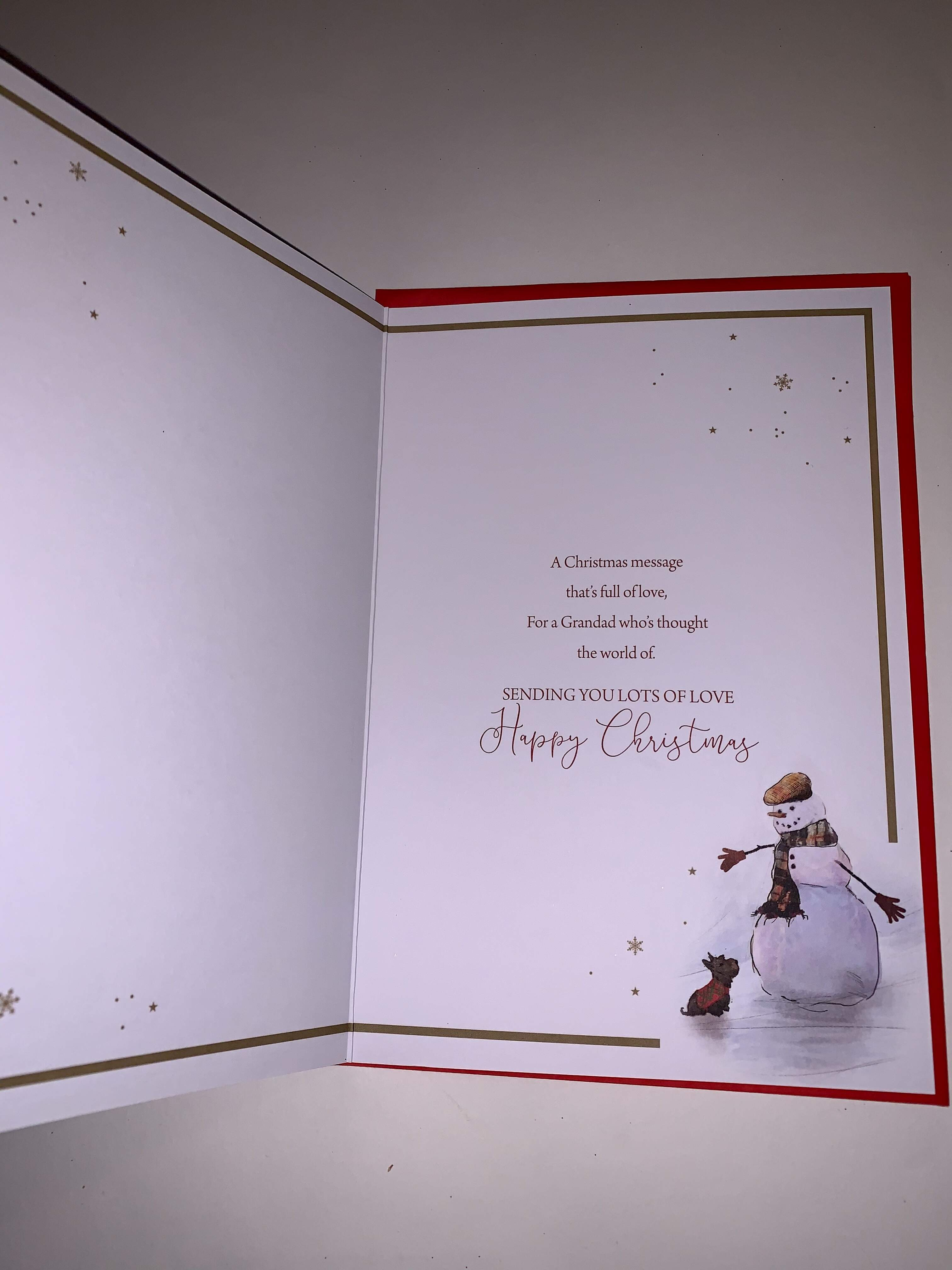 Cherry Orchard Grandad Christmas Card