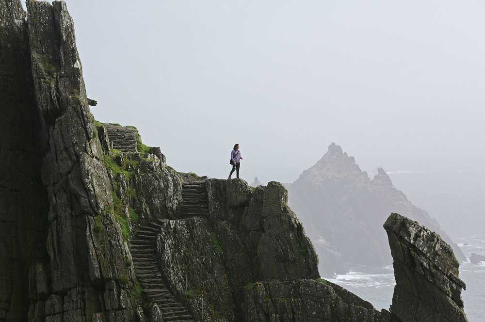 Skellig Michael Landing - The Force Awakens