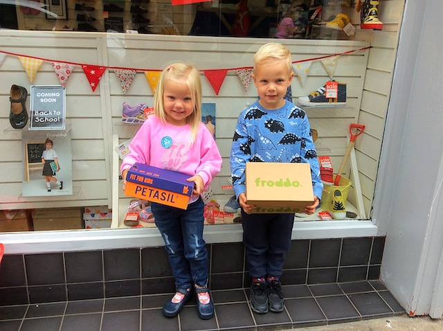 Happy customers at the Pied Piper shoe shop in Dumfries