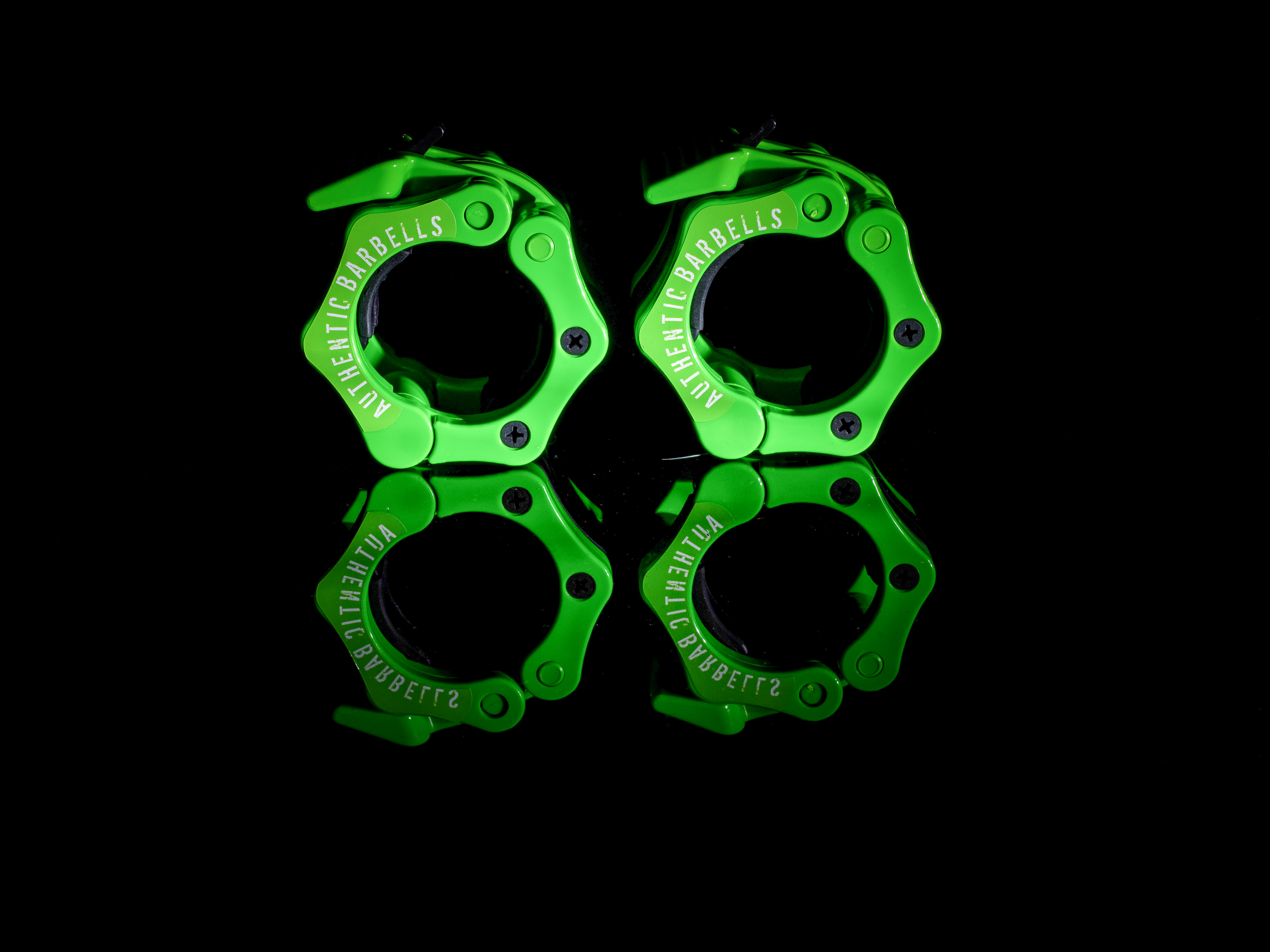 Harmonious Green Barbell Clamp