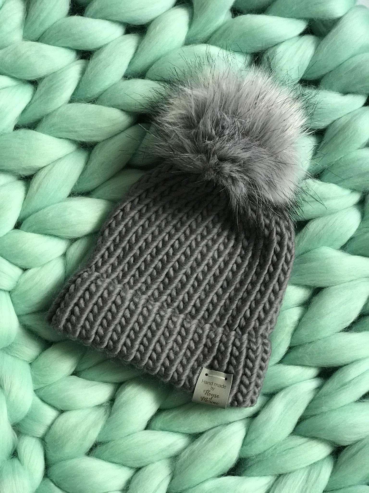 Merino hats - plain knit