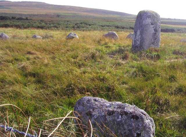 The standing stones at Glenquicken