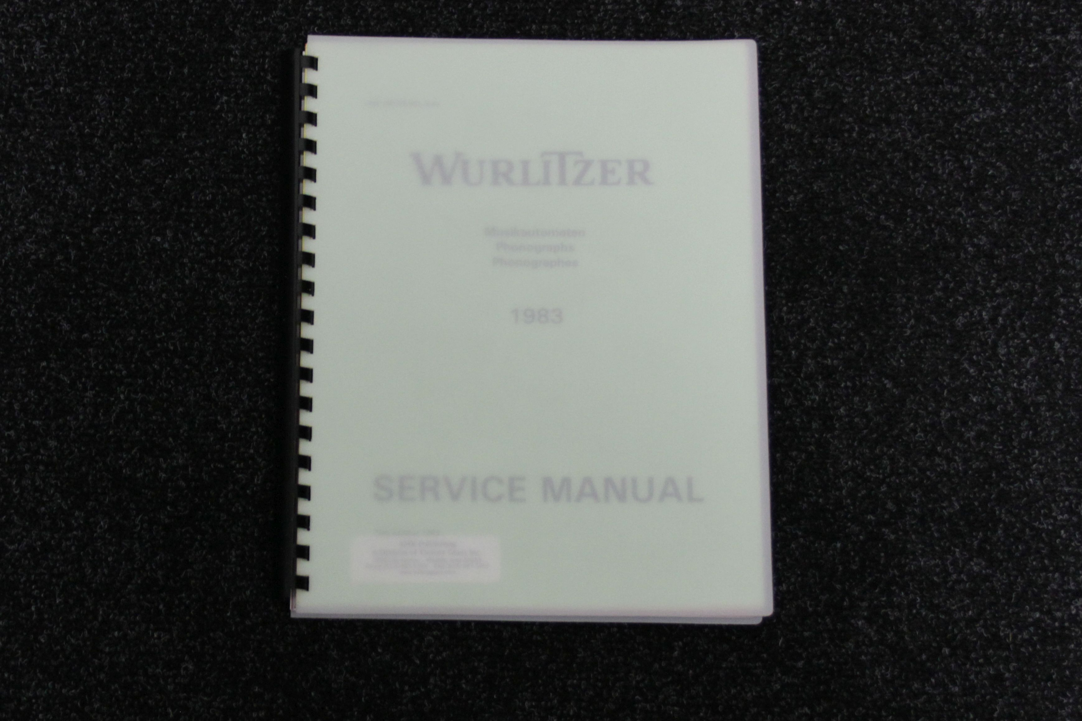 Wurlitzer Service Manual 1983