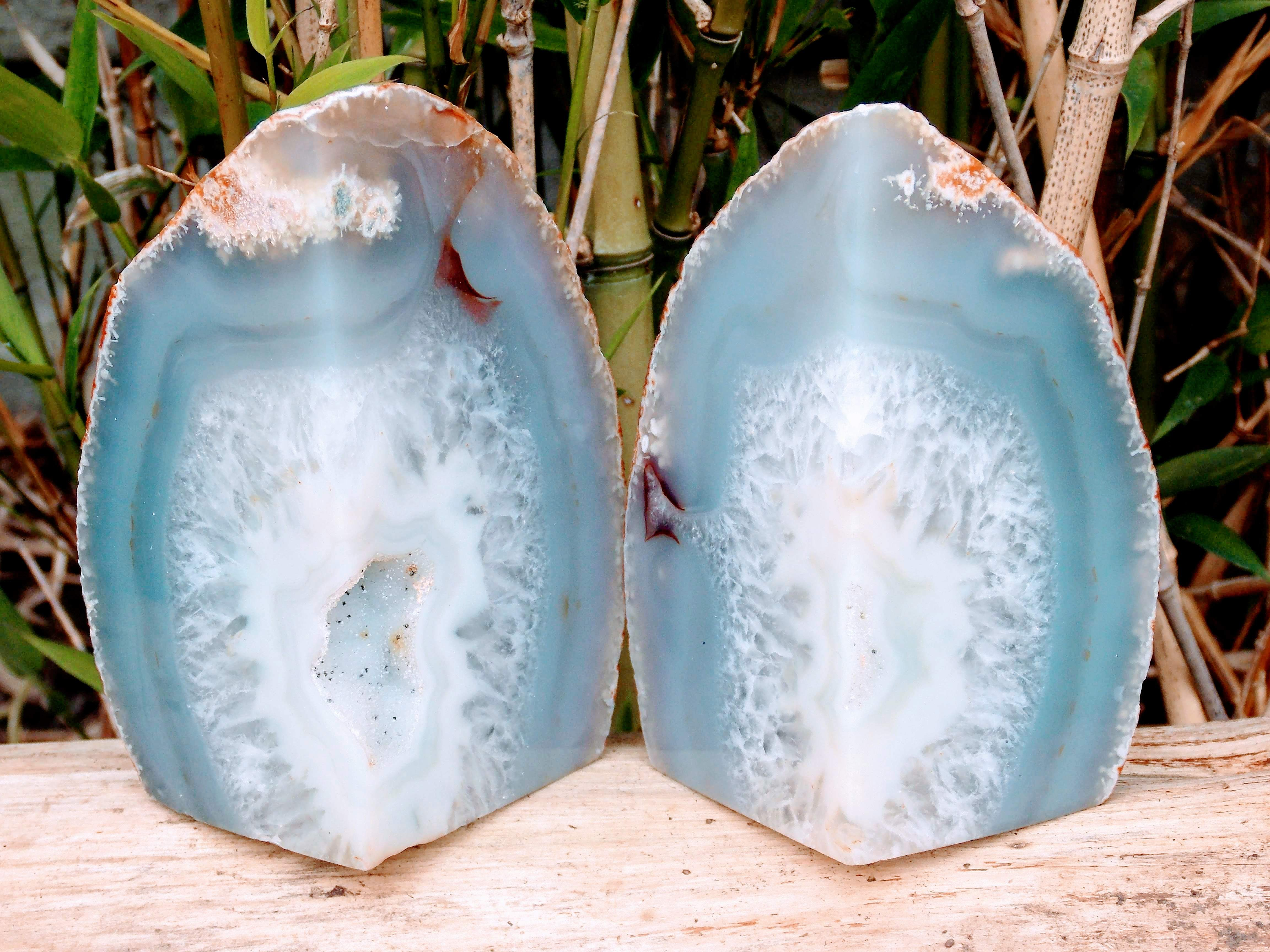 Natural Agate Book Ends (pair)