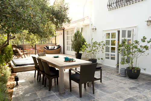 Terrace Garden for dining and entertaining
