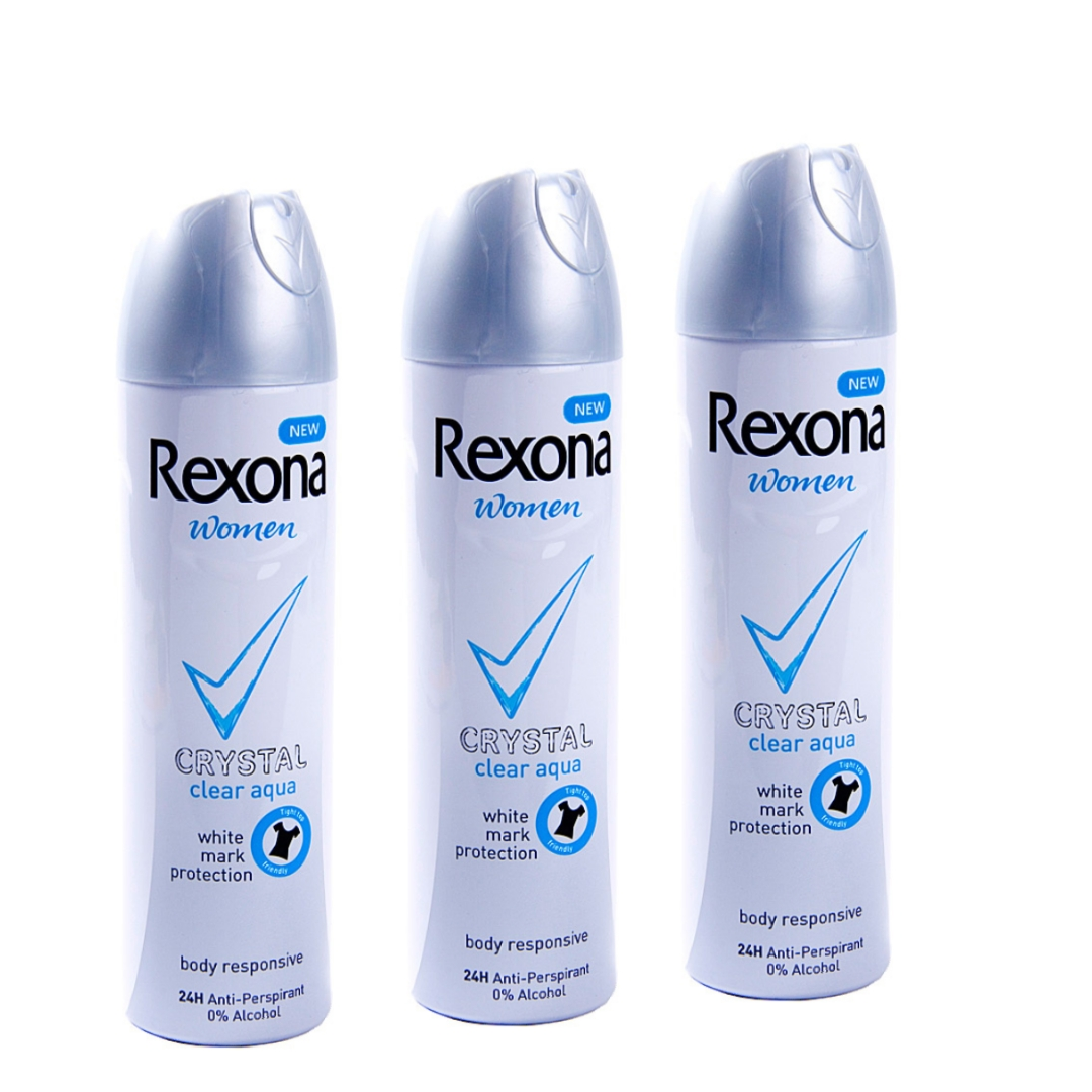 Rexona women crystel clean aqua 3x75 ml