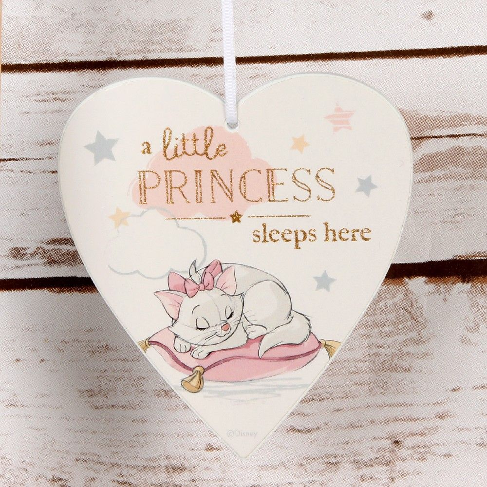 Disney 'A little princess sleeps here' heart plaque