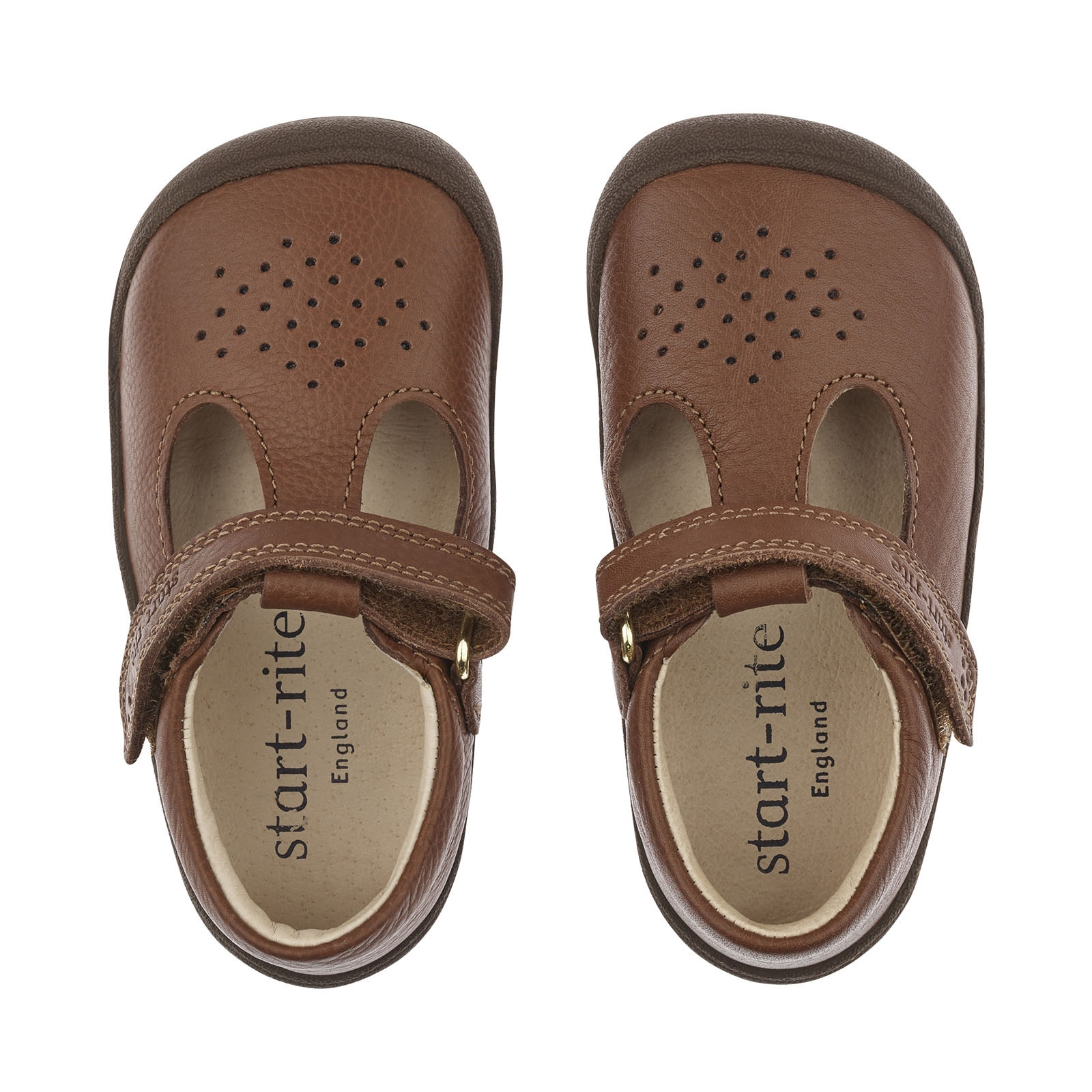 Baby boys t bar sandals in brown