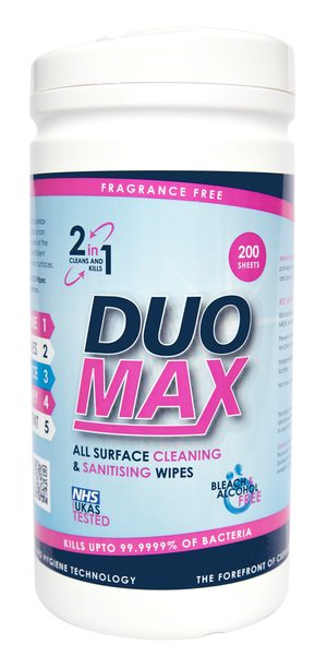 DuoMax Disinfectant Wipes