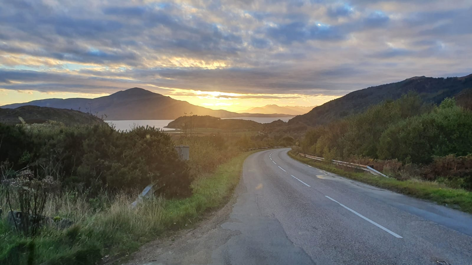 Open Road of Skye with stunning scenery