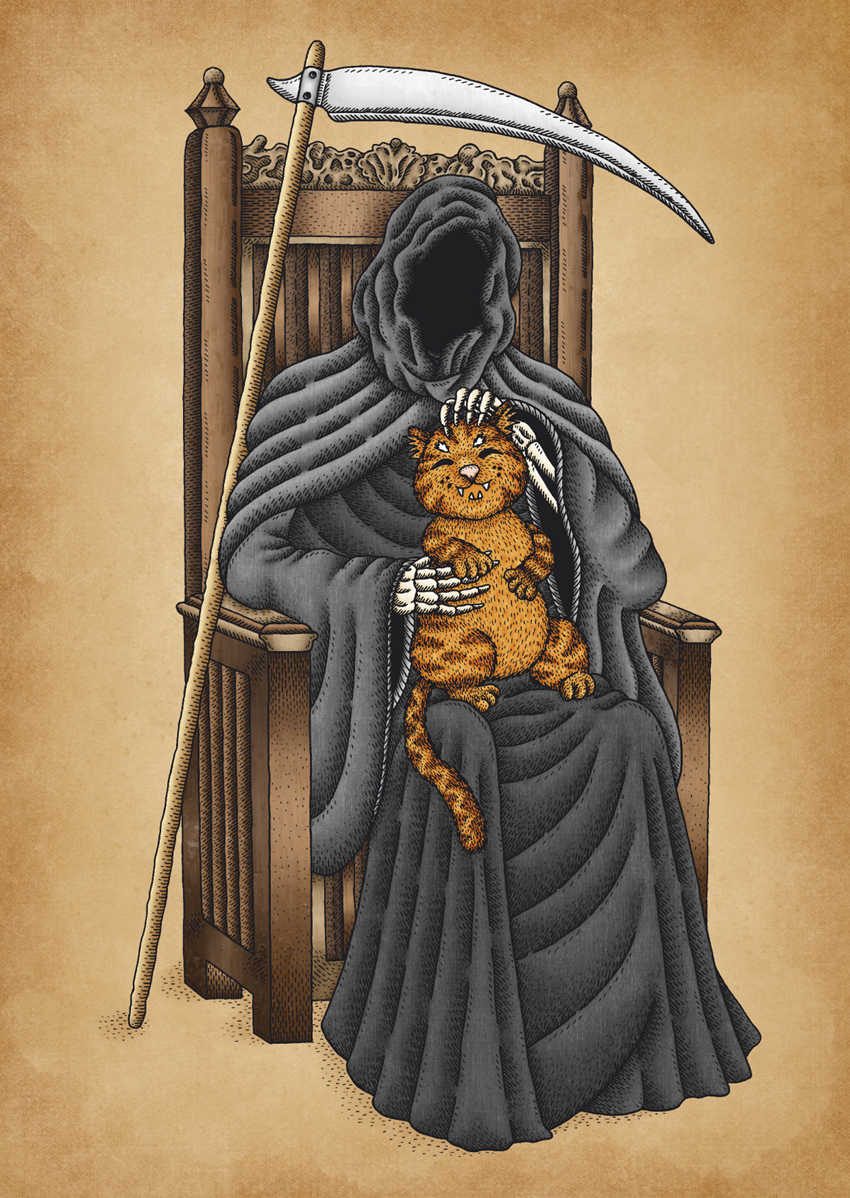 The Death's Best Friend Cat by Jenny Bommert, 2017