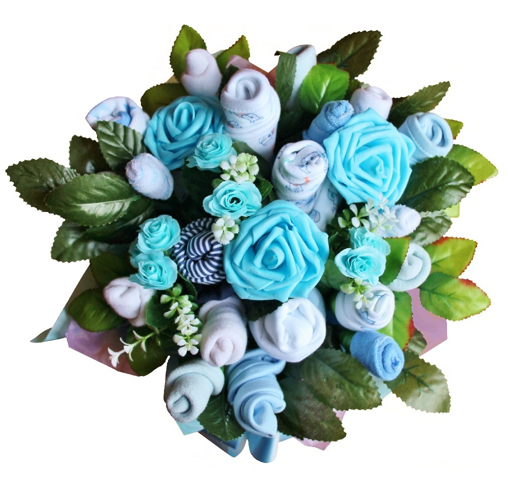 Beautiful Baby Clothes Bouquet for a Boy