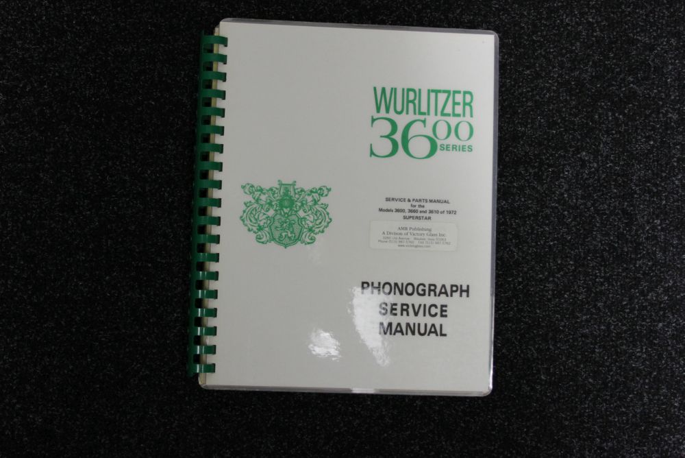 Wurlitzer Service Manual 3600 series