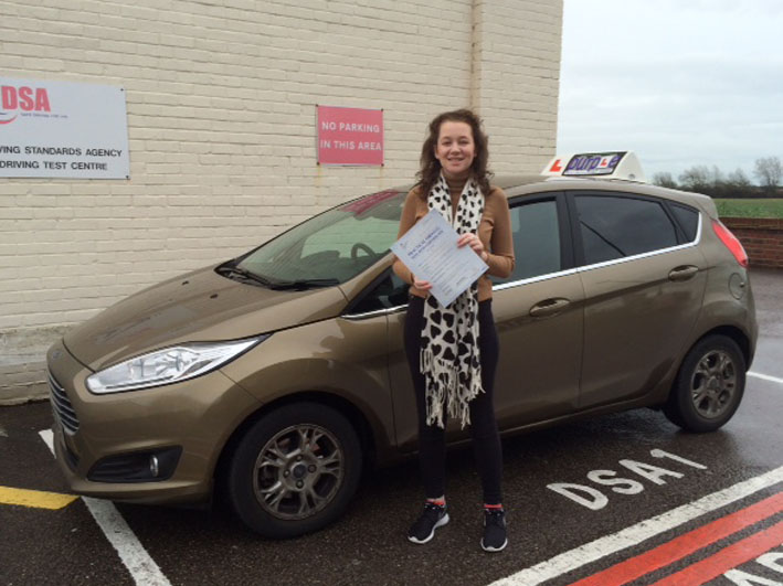 MASSIVE thank you to Helen for helping me pass my driving test- absolutely over the moon!