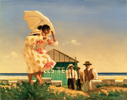 A Very Dangerous Beach Open Edition Print Jack Vettriano