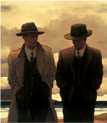 Amateur Philosophers Open Edition Print Jack Vettriano