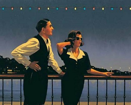 Midnight Blue Jack Vettriano Print