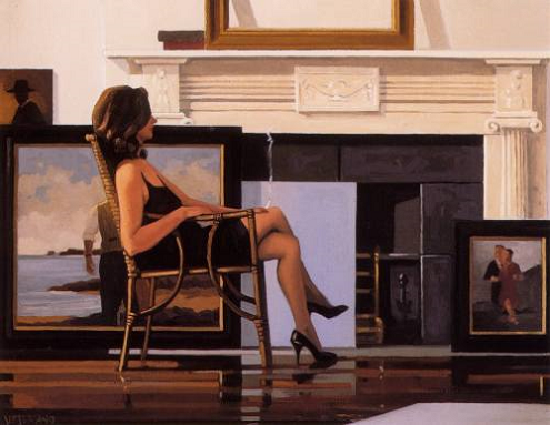 Model and The Drifter Open Edition Print Jack Vettriano