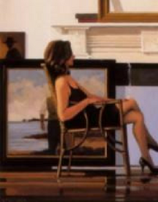 Model and The Drifter Jack Vettriano Print