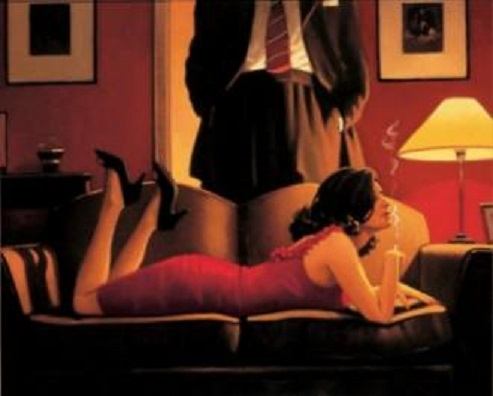 The Parlour of Temptation Jack Vettriano Limited Edition Print