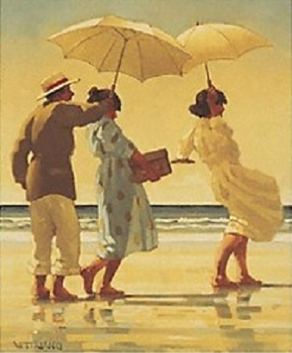 The Picnic Party-Portrait Open Edition Print Jack Vettriano