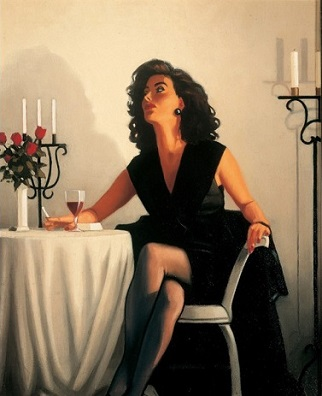 Table for One Jack Vettriano Limited Edition Print
