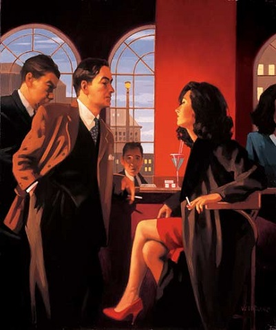 The Red Room Jack Vettriano Signed Print