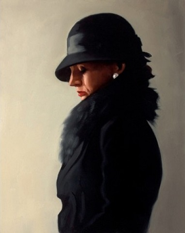 Portrait in Black and Pearl Jack Vettriano Limited Edition Print