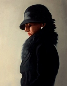 Portrait in Black and Pearl Jack Vettriano