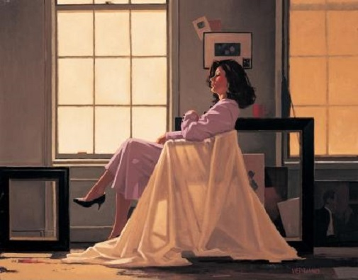 Winter Light & Lavender Jack Vettriano Limited Edition Print