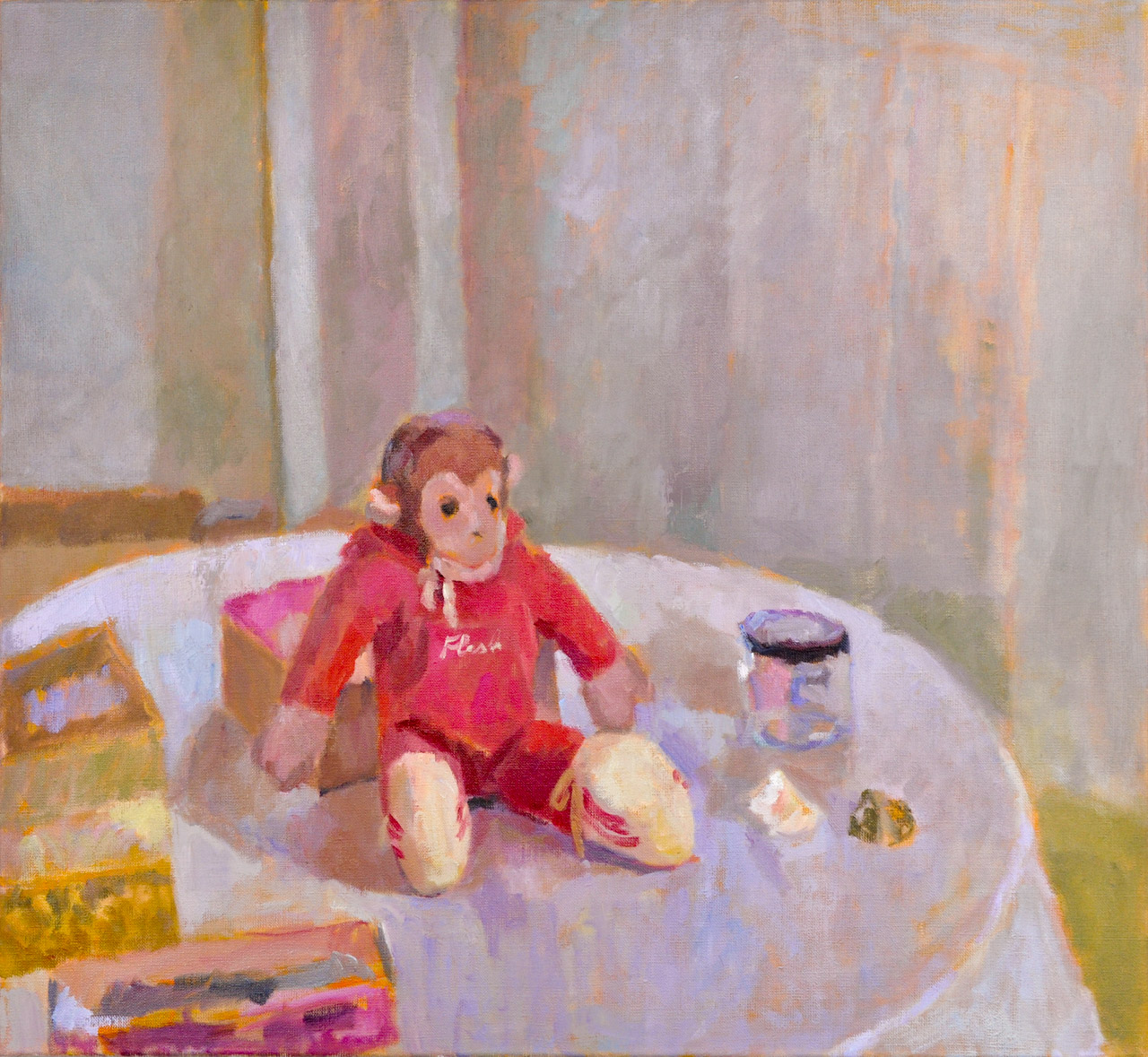 How Gwen John inspired me to paint Flash the Toy Monkey