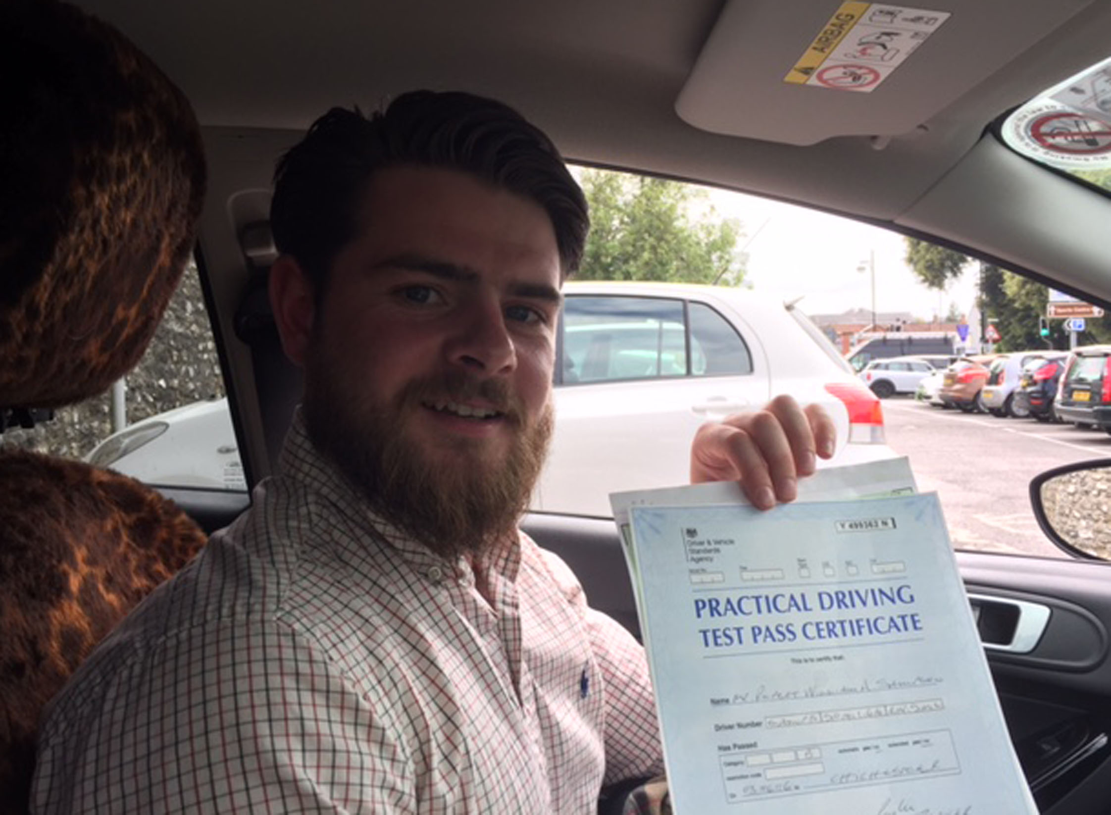 Another first time driving test pass with Purple Driving.