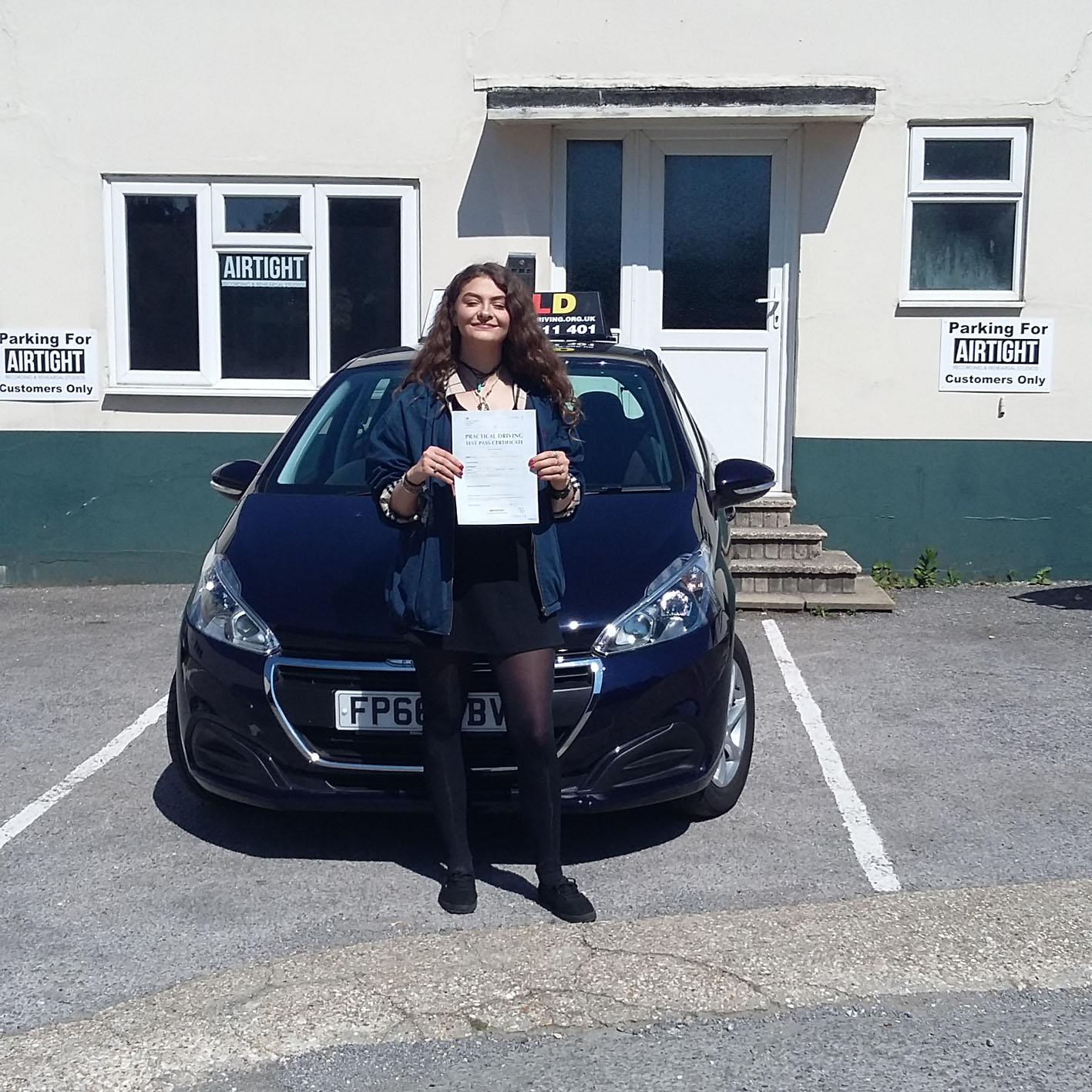 Congratulations to Angel English on passing your test with Russ, owner of one of Westergate's independently owned and run driving schools, GOLD!