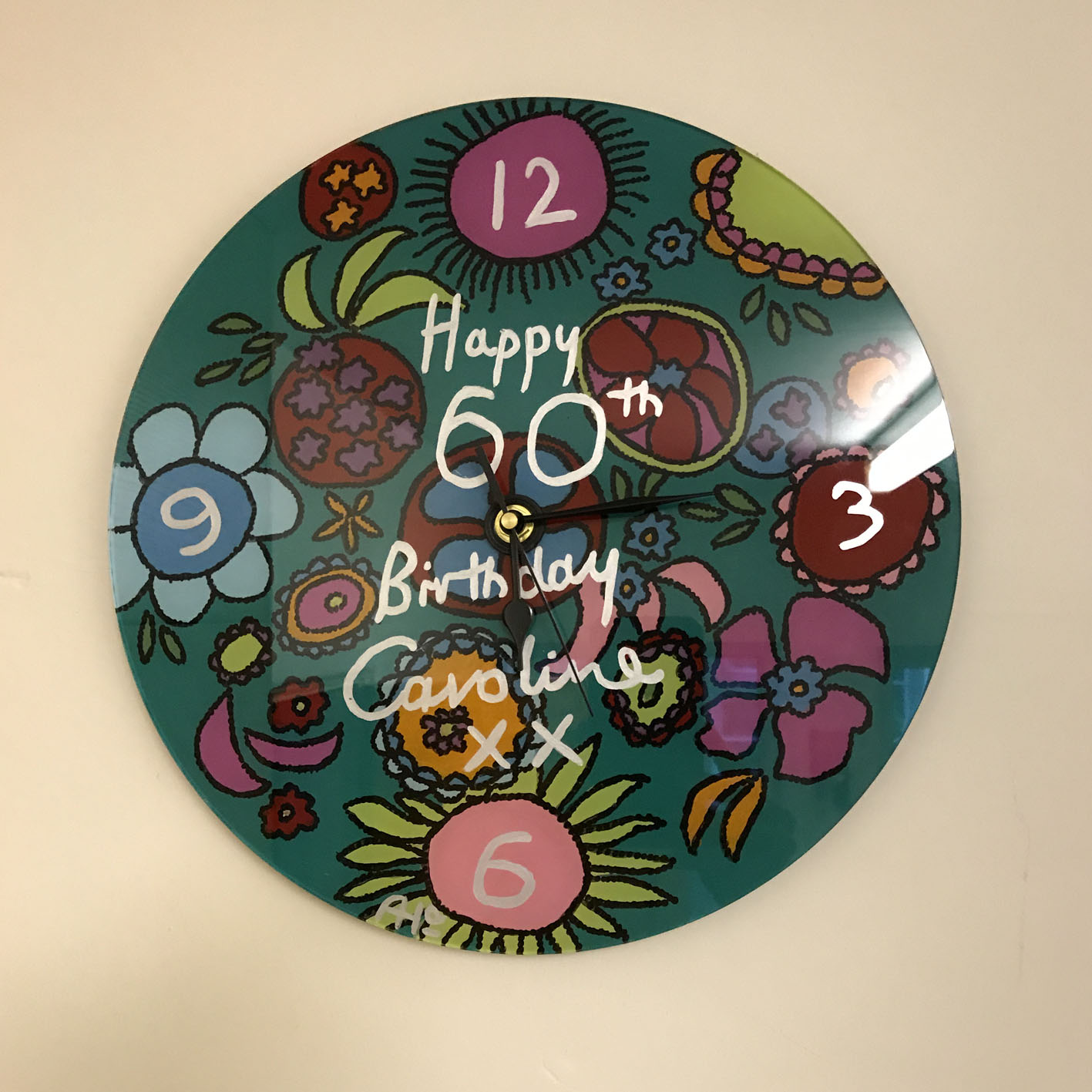 Unique hand painted clocks made by Helen Adams Artist
